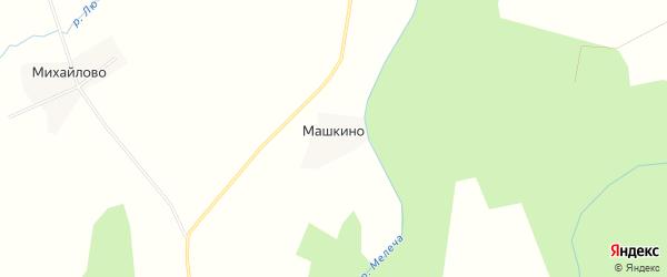 Карта деревни Машкино в Тверской области с улицами и номерами домов