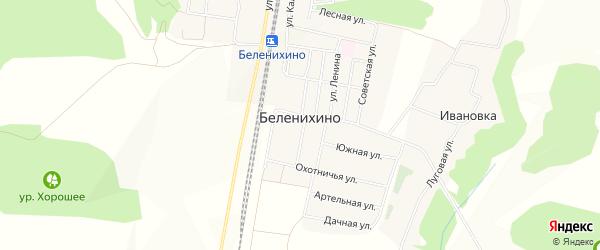 СТ Салют на карте села Беленихино с номерами домов