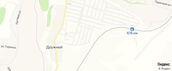 СНТ Бодрость на карте Дружного хутора Белгородской области с номерами домов