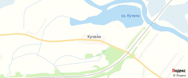 Карта деревни Кучелей в Тверской области с улицами и номерами домов