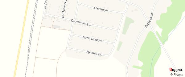 Артельная улица на карте села Беленихино с номерами домов