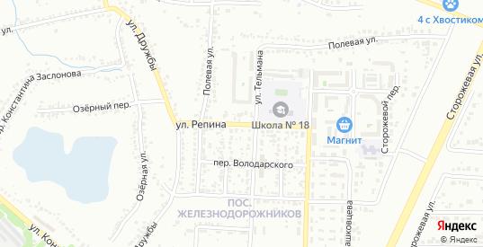 Улица Репина в Белгороде с номерами домов на карте. Спутник и схема онлайн