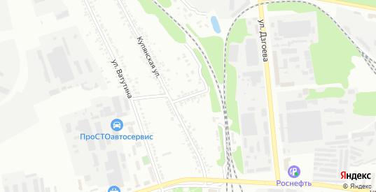 Купянский переулок в Белгороде с номерами домов на карте. Спутник и схема онлайн