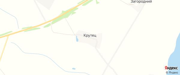Карта деревни Крутца в Тверской области с улицами и номерами домов