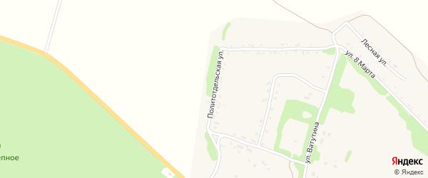 Политотдельская улица на карте Кировского поселка Курской области с номерами домов
