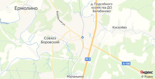 Карта Балабаново с улицами и домами подробная. Показать со спутника номера домов онлайн