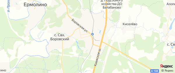 Карта Балабаново с районами, улицами и номерами домов: Балабаново на карте России