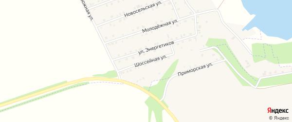 Шоссейная улица на карте села Пуляевки с номерами домов