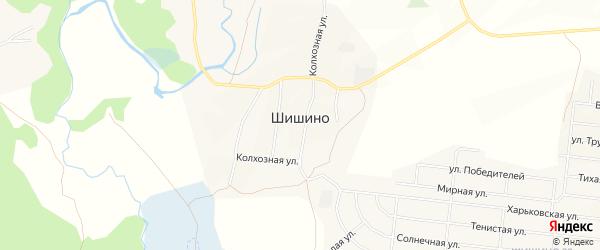 Карта села Шишино в Белгородской области с улицами и номерами домов