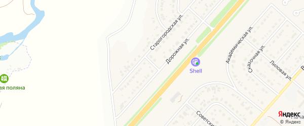 Дорожный переулок на карте Новосадового поселка Белгородской области с номерами домов