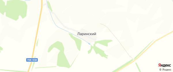 Карта Ларинского поселка в Тульской области с улицами и номерами домов