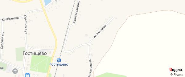 Улица Маслова на карте села Гостищево с номерами домов