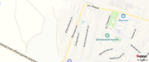 Речная улица на карте Новосадового поселка Белгородской области с номерами домов