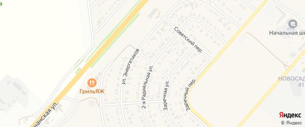 Пионерский переулок на карте Новосадового поселка Белгородской области с номерами домов