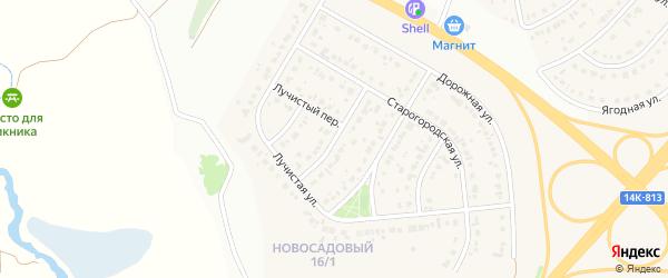 2-й Старогородский переулок на карте Новосадового поселка Белгородской области с номерами домов