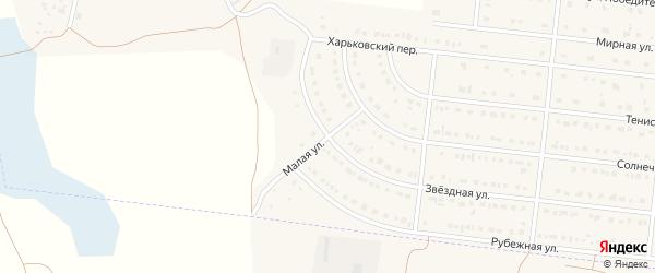 Малая улица на карте села Шишино Белгородской области с номерами домов