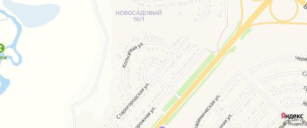 Кольцевой переулок на карте Новосадового поселка Белгородской области с номерами домов