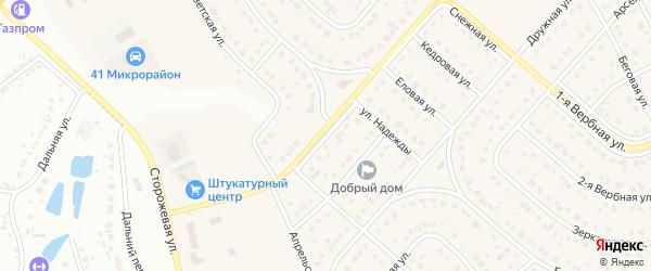 3-я Апрельская улица на карте Новосадового поселка Белгородской области с номерами домов