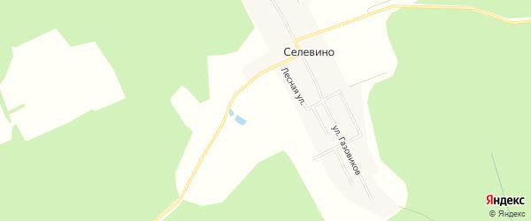Территория Коттеджный поселок Селевино парк на карте деревни Селевино Московской области с номерами домов