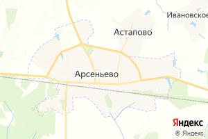 Карта пос. Арсеньево Тульская область