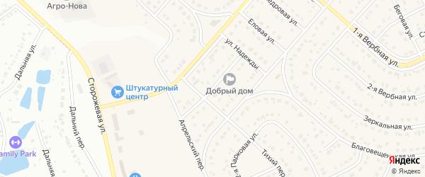 2-я Апрельская улица на карте Новосадового поселка Белгородской области с номерами домов