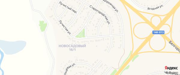 Лучистая улица на карте Новосадового поселка Белгородской области с номерами домов