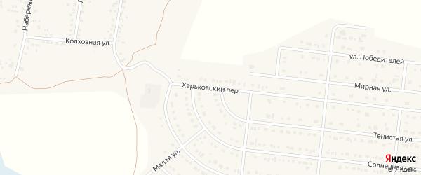 Харьковский переулок на карте села Шишино Белгородской области с номерами домов