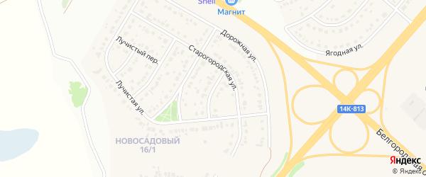 1-й Старогородский переулок на карте Новосадового поселка Белгородской области с номерами домов