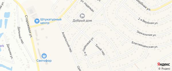 Молодежный переулок на карте Новосадового поселка Белгородской области с номерами домов