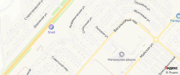 Сказочная улица на карте Новосадового поселка Белгородской области с номерами домов