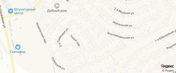 2-я Парковая улица на карте Новосадового поселка Белгородской области с номерами домов
