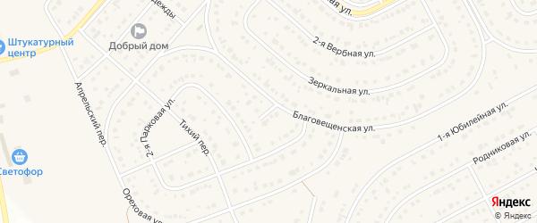 Ореховый переулок на карте Новосадового поселка Белгородской области с номерами домов