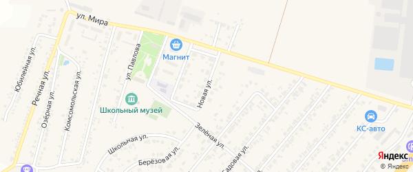 Новая улица на карте Новосадового поселка Белгородской области с номерами домов