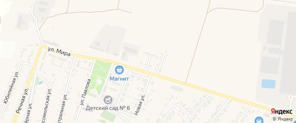 Полевая улица на карте Новосадового поселка Белгородской области с номерами домов
