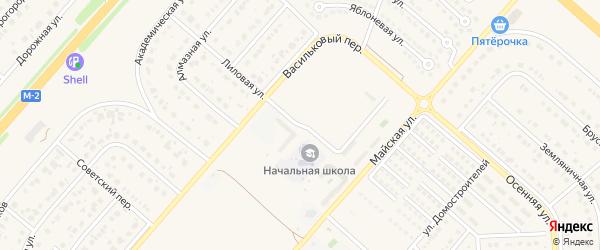 Школьный проезд на карте Новосадового поселка Белгородской области с номерами домов