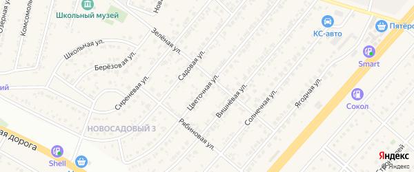 Цветочная улица на карте Новосадового поселка Белгородской области с номерами домов