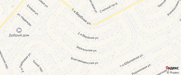 2-я Вербная улица на карте Новосадового поселка Белгородской области с номерами домов
