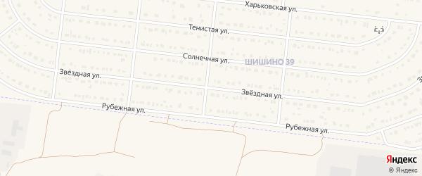Звездная улица на карте села Шишино Белгородской области с номерами домов
