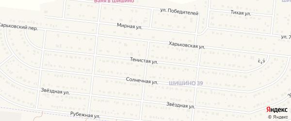 Тенистая улица на карте села Шишино с номерами домов