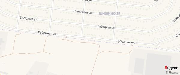 Рубежная улица на карте села Шишино Белгородской области с номерами домов