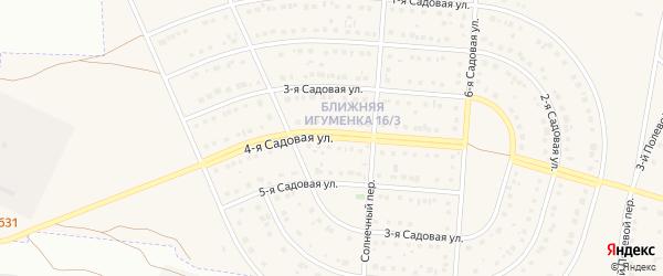 4-я Садовая улица на карте села Ближней Игуменки с номерами домов