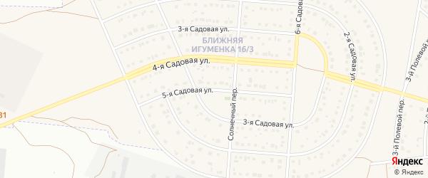 5-я Садовая улица на карте села Ближней Игуменки с номерами домов