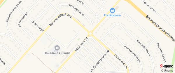 Майская улица на карте Новосадового поселка с номерами домов