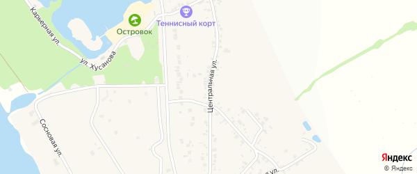 Центральная улица на карте села Нижнего Ольшанца с номерами домов