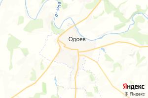 Карта пос. Одоев Тульская область
