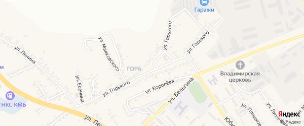 Улица Горького на карте поселка Разумного Белгородской области с номерами домов