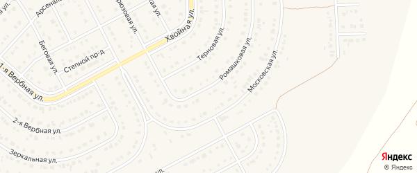 Ромашковая улица на карте Новосадового поселка Белгородской области с номерами домов