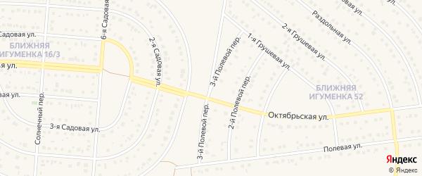 3-й Полевой переулок на карте села Ближней Игуменки Белгородской области с номерами домов