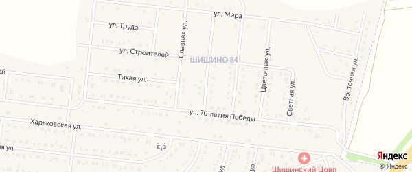 Юбилейная улица на карте села Шишино Белгородской области с номерами домов