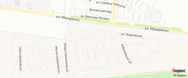 Строительная улица на карте Беловского села Белгородской области с номерами домов